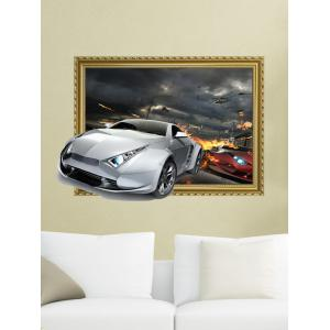 3D Car Removable Wall Sticker Home Decor - Deep Gray - 60*90cm