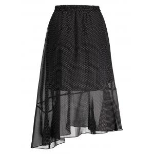Polka Dot High Waist Midi Skirt