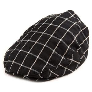 Gingham Pattern Design Ivy Hat - Black - One Size
