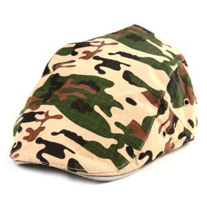 Camouflage Printed Newsboy Cap
