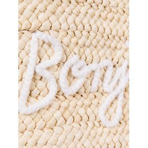 Bonjour Tassels Straw Woven Beach Bag - OFF-WHITE