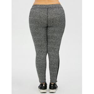 Plus Size High Waist Mesh Insert Leggings -