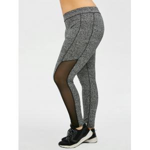Plus Size High Waist Mesh Insert Leggings