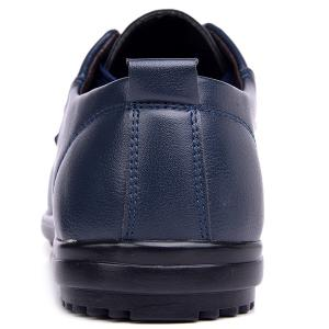 Faux Leather Stitching Casual Shoes - BLUE 40