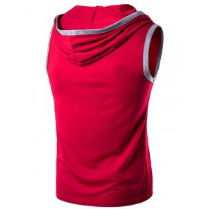 Hooded Pocket Sleeveless T-Shirt -