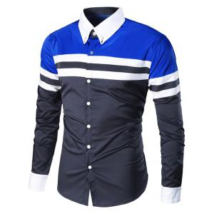 Long Sleeve Button Down Striped Shirt
