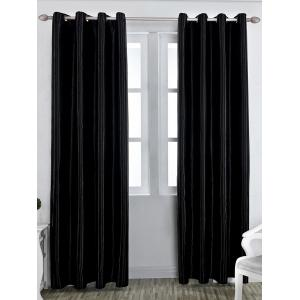 Grommet Thermal Insulated Window Blackout Curtain - Black - W57 Inch*l96 Inch