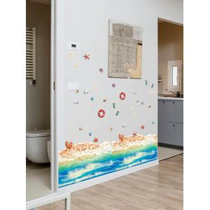 Beach Pattern Removable Floor Sticker Wall Decor -