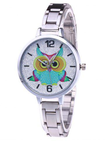 Shop Alloy Strap Owl Analog Glitter Watch