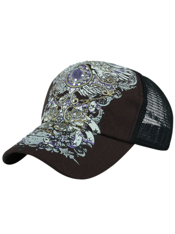 Buy Hand Painted Summer Hot Drilling Baseball Hat - Coffee