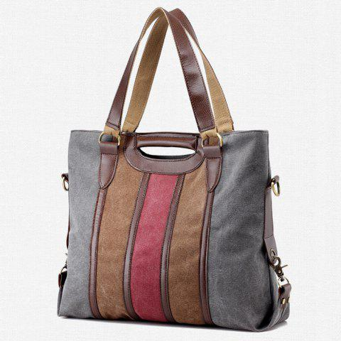 Chic Casual Color Block Weekend Bag - GRAY  Mobile