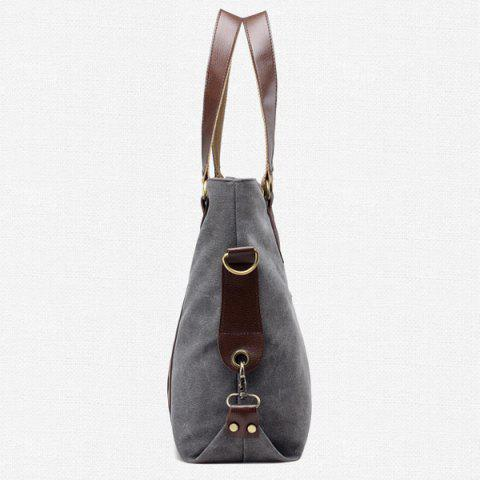 Latest Casual Color Block Weekend Bag - GRAY  Mobile