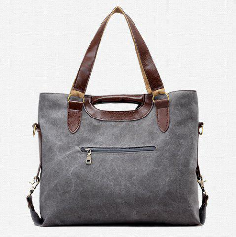 Outfits Casual Color Block Weekend Bag - GRAY  Mobile