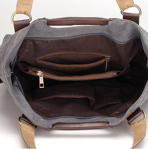 Shops Casual Color Block Weekend Bag - GRAY  Mobile