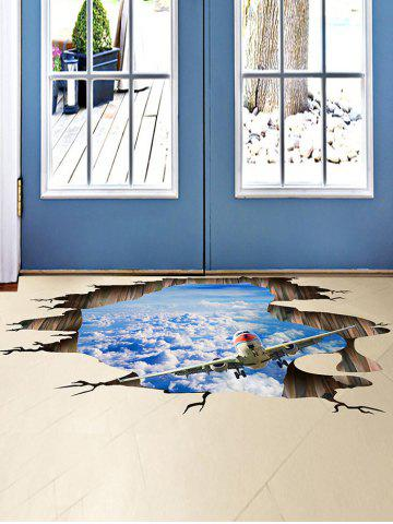 Outfit 3D Stereo Sky Ceiling Floor Decor Wall Stickers - 60*90CM BLUE Mobile