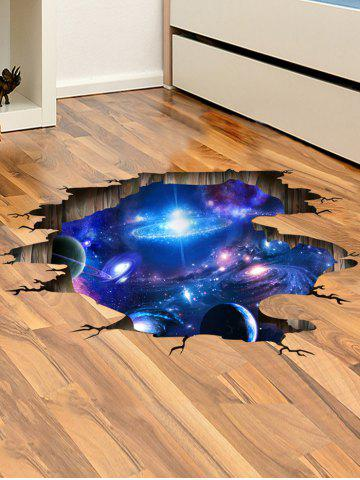 Discount Ceiling Floor Decor 3D Galaxy Planet Wall Stickers - 60*90CM DEEP BLUE Mobile