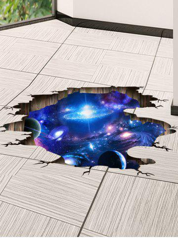 Affordable Ceiling Floor Decor 3D Galaxy Planet Wall Stickers - 60*90CM DEEP BLUE Mobile