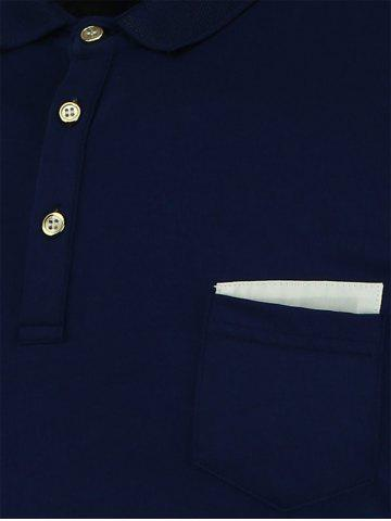 Outfit Short Sleeve Polo T Shirt - CADETBLUE XL Mobile