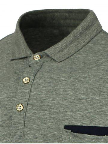 Store Short Sleeve Polo T Shirt - 2XL GRAY Mobile