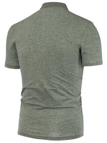 Chic Short Sleeve Polo T Shirt - 2XL GRAY Mobile