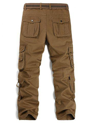 Buy Buttons Design Pockets Embellished Cargo Pants - 36 ESPRESSO Mobile