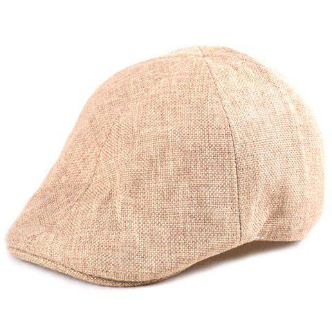 Chic Plain Linen Fabric Ivy Hat