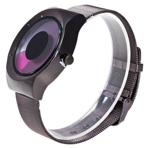 Discount Alloy Strap Vortex Ombre Quartz Watch - PURPLE  Mobile