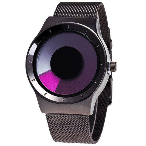 Alloy Strap Vortex Ombre Quartz Watch - Purple - 43