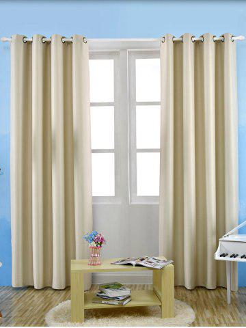 Fashion Grommet Thermal Insulated Window Blackout Curtain - W57 INCH*L96 INCH PALOMINO Mobile