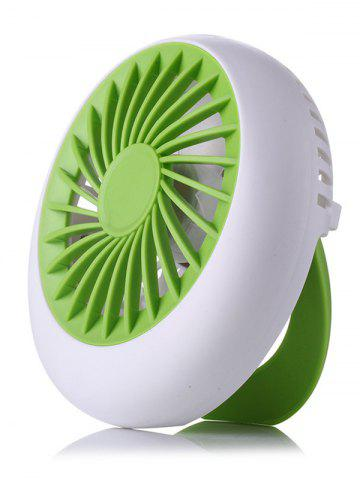 Handheld Big Wind USB Summer Mini Bureau Ventilateur Vert