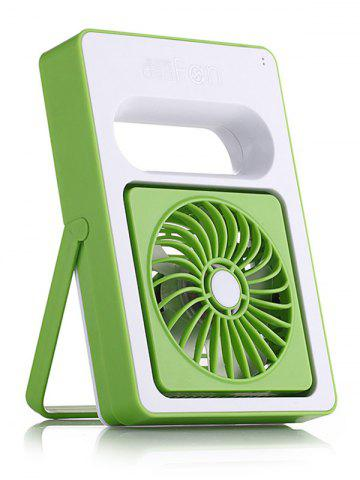 Home Office Mini USB Ventilateur de bureau rechargeable Vert