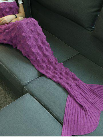 Main Hedgehog design en maille Mermaid Blanket