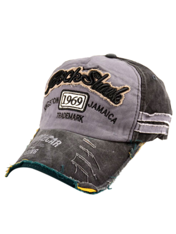 Cheap Frayed Edge Baseball Hat with 1969 Embroidery