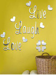 DIY Acrylic Heart Art Decals Mirror Wall Sticker