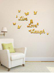 3D Removable Butterfly Letter Acrylic Mirror Wall Sticker