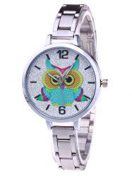Alloy Strap Owl Analog Glitter Watch -