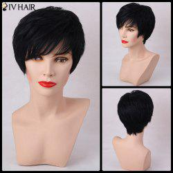 Siv Hair Short Straight Layered Cut Capless Human Hair Wig