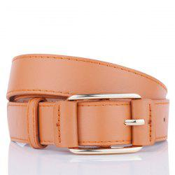 Plain Pin Buckle Artificial Leather Waist Belt - CAMEL