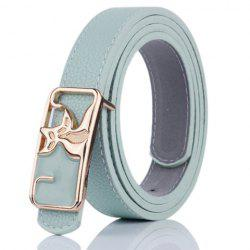 Faux Leather Double Foxes Buckle Casual Belt