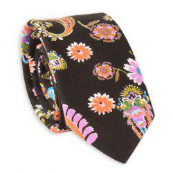 Ethnic Floral Printed Neck Tie