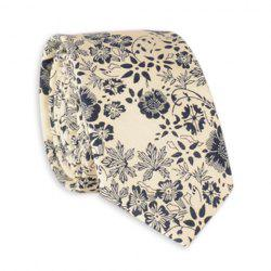 Sketch Flowers Printed Neck Tie