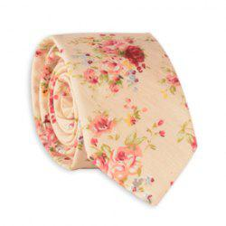 Rose Bouquet Printed Neck Tie