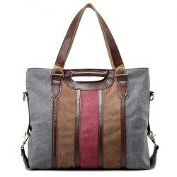 Casual Color Block Weekend Bag - GRAY