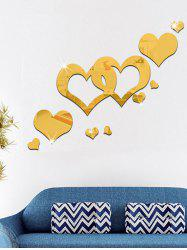 Acrylic Hollow Out Heart Mirror Wall Sticker