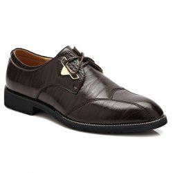 Stitching Faux Leather Formal Shoes