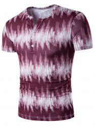 Half Button Tie Dyed Tee