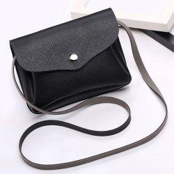 Envelope Cross Body Min Bag - BLACK