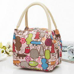 Insulated Cartoon Printed Lunch Bag
