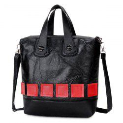 Color Block Handbag with Two Straps