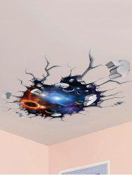Wall Broken 3D Galaxy Planet Ceiling Wall Stickers - COLORMIX